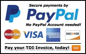 Use PayPal to pay your monthly TDI Invoice.